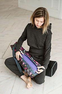 Качественная и красивая сумка для йога-коврика