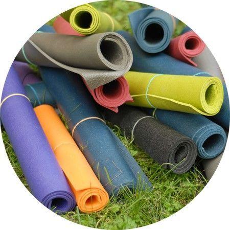 Коврики для йоги - материал