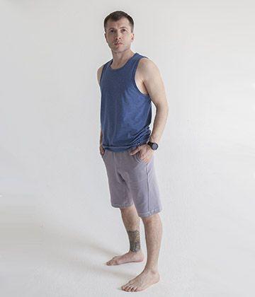 Качественные мужские шорты для йоги