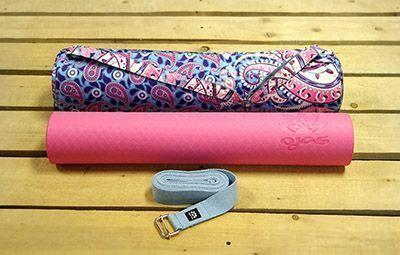 """Набор для практики йоги """"Восток"""": коврик, чехол, ремень"""